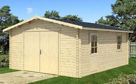 Amazon.es: Garage Carport Auto Garage tejado Garage bloque casa 470 cm x 570 cm – 58 mm bloque casa de garaje