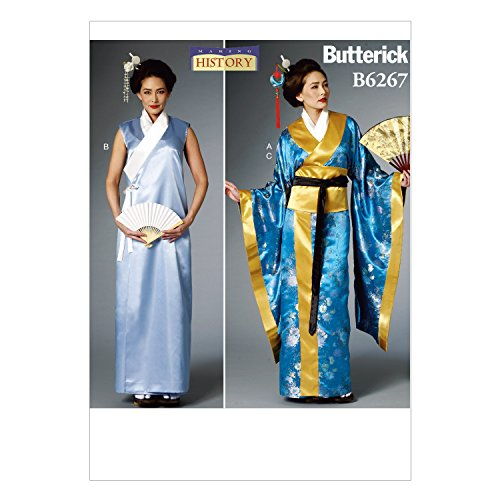 Butterick Patterns B6267A50 Misses Costume, A5 (6-8-10-12-14)