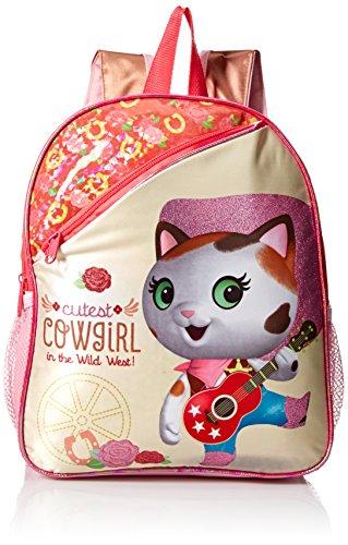 (Disney Girls' Sheriff Callie 12 Toddler Backpack, Pink)
