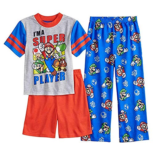 Super Mario Bros 3-Piece Pajama Set, Size 6]()