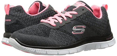 Skechers Flex Appeal Simply Sweet Grau Damen Trainer Schuhe