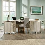 Sauder Costa L Shaped Computer Desk in Chalked Chestnut