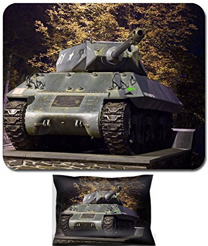 Liili Mouse Wrist Rest and Small Mousepad Set, 2pc Wrist Support IMAGE ID: 2033538 achilles tank destroyer mk10 from second world war photo taken at night (World Of Tanks Best Destroyer)