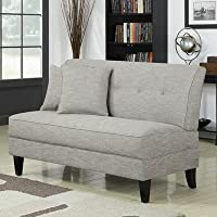 Bayonet Loveseat Color: Barley Tan Linen