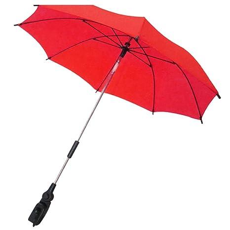 Gosear Parasol para sombrilla bebe carritos Paraguas Accesorios (Color Rojo)