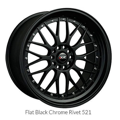 XXR 521 17 Flat Black Wheel / Rim 5×100 & 5×4.5 with a 38mm Offset and a 73.1 Hub Bore. Partnumber 52177102