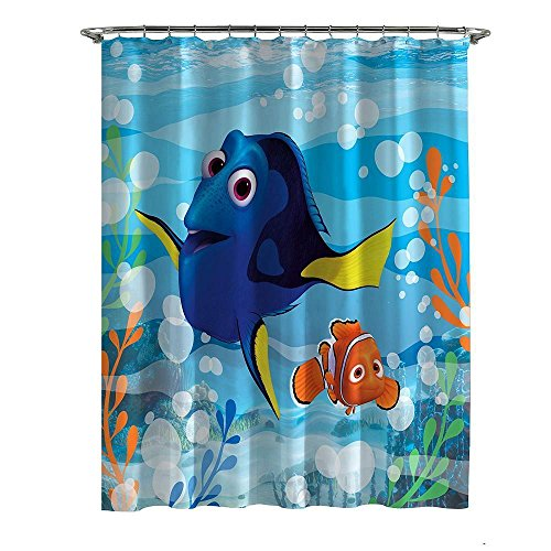 Disney Pixar Finding Dory Nemo Microfiber Shower Curtain