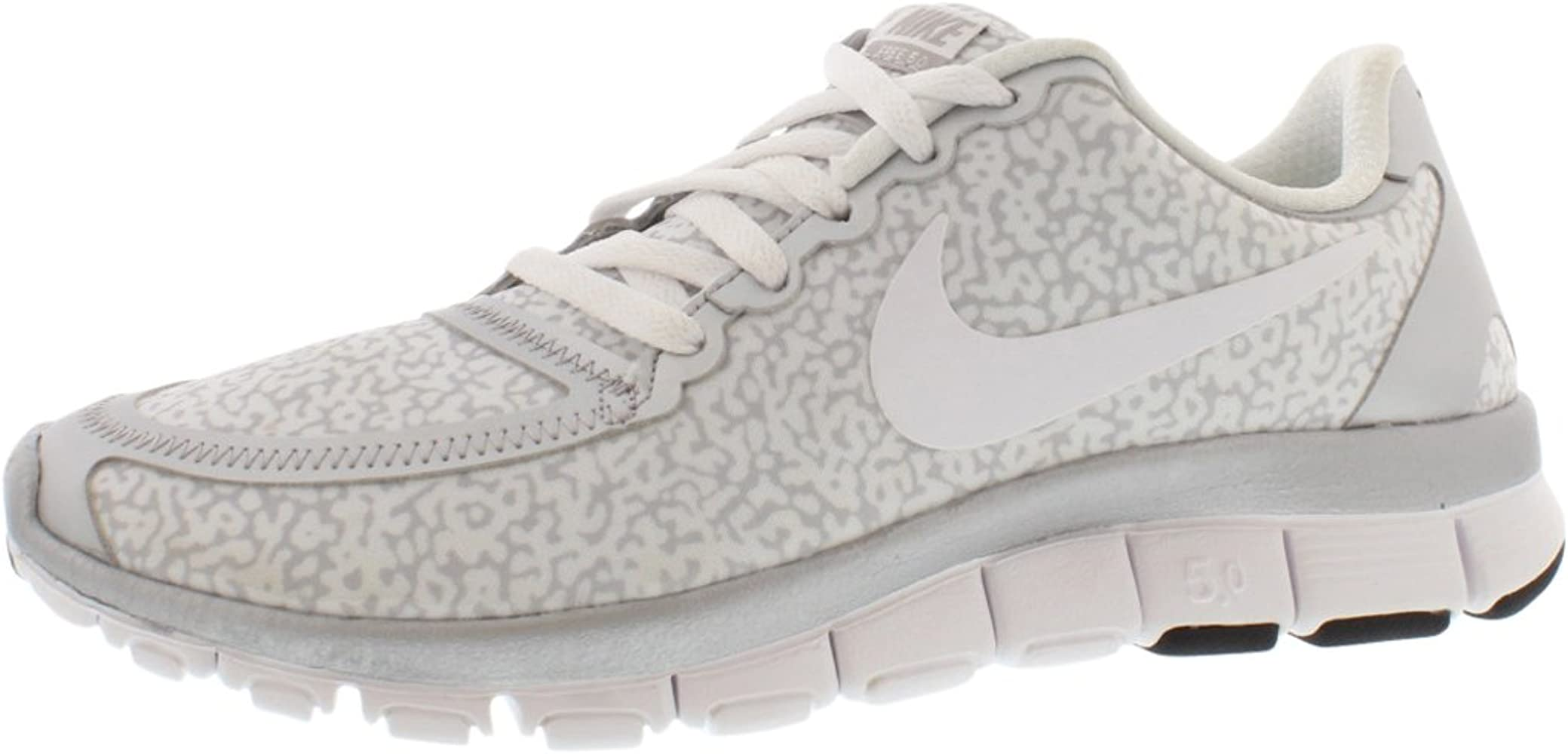 quality design 0ba87 5cd4a Amazon.com | Nike Free 5.0 v4 White/Silver Running Shoes ...