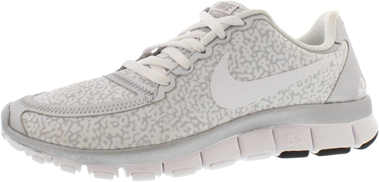 buy popular 6d7c4 b15cd Nike Free 5.0 v4 White Silver Running Shoes Women 10 US