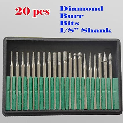 MTP Tm 20 piezas de brocas de diamante de metal para Dremel ...