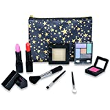 Tokia Washable Cosmetics Set for Little Girls, All-In-One Real Kids Makeup Kit with Portable Bag