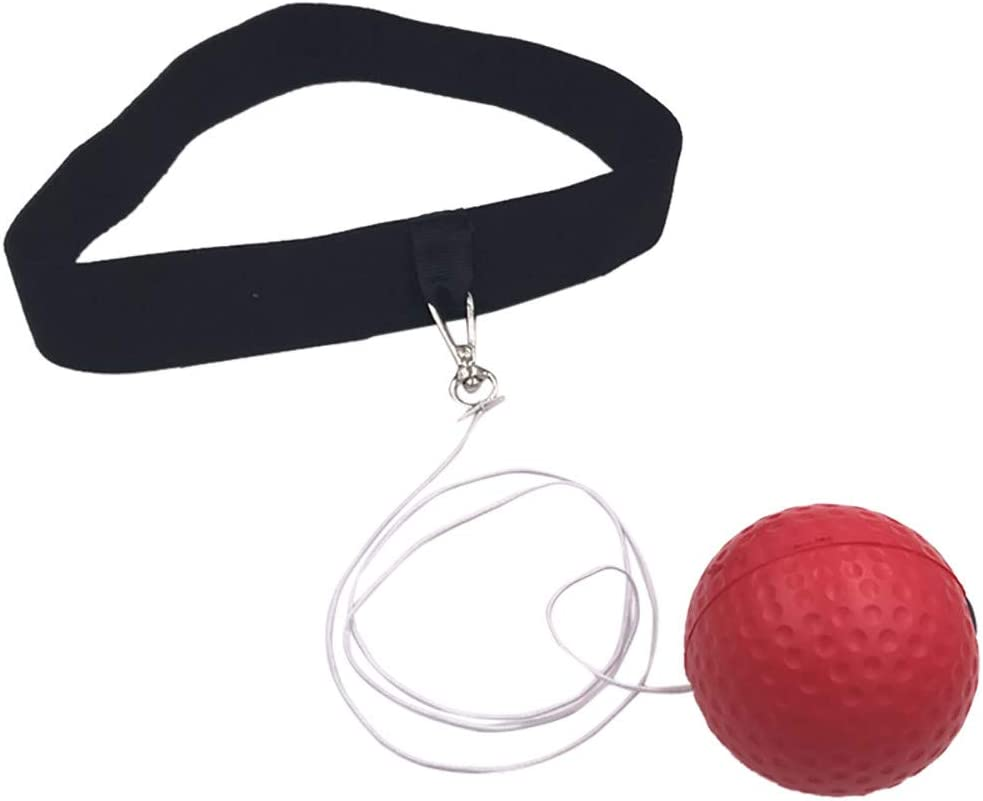 Boxing Punch Exercise Fight Ball Reflex Box REACT Speed Training Head Band Newes