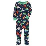 Carter's Boys' 12M-18M One Piece Multi Dinosaur Print Cotton Pajamas 2T