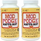 Mod Podge WdBNHf Waterbase Sealer, Glue and Finish (16-Ounce), CS11302 Matte Finish, 2 Pack