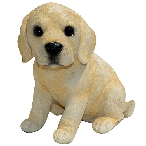 Puppy Statue Dog (Michael Carr Designs 80103 Yeller Labrador Puppy Statue, Small, Yellow)