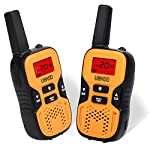 Walkie Talkies for Kids, Two Ways Radio Toy Walkie Talkie 22 Channels 3 Miles FRS/GMRS Hand held Mini Walkie Talkie for Outdoor Adventures Camping Hiking(Yellow)