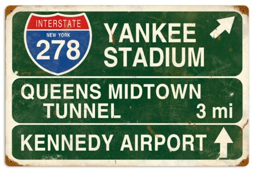 Vintage-Retro Yankee Stadium Metal-Tin Sign Yankee Stadium Tin