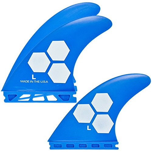 Channel Islands Surfboards Fiberglass Reinforced Polymer (Frp) Fin Set - 3 Fins - Futures Base, Blue, Large ()