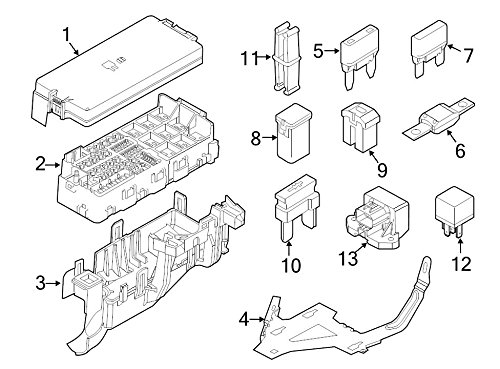 Ford DG1Z-14A003-A - Cover Fuse Panel
