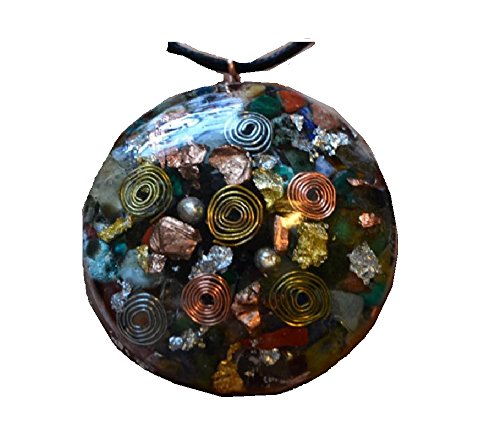 Ultimate Crystal Mix -Powerful Orgone Pendant - Amethyst, Emerald,Jade, Rose Quartz, Angelite & MORE! Emerald Jade Pendant Necklace