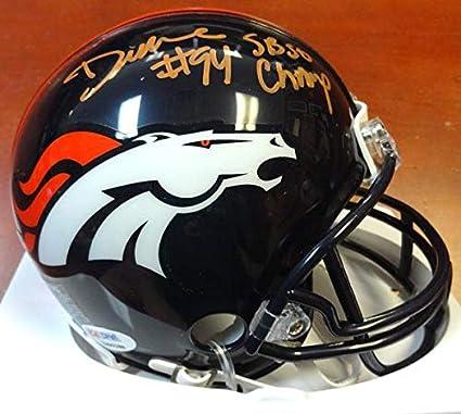 adbd5e285b3 DeMarcus Ware Autographed Denver Broncos Mini Helmet quot SB 50  Champs quot  Stock  103891 -