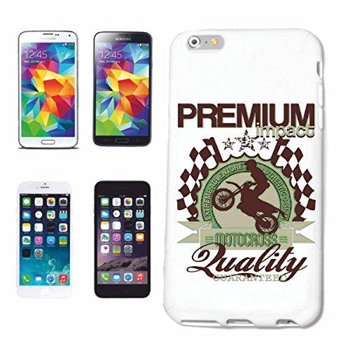 """cas de téléphone iPhone 7+ Plus """"PREMIUM MOTOCROSS EXTREME SPORT MOTOCROSS MOTOCROSS BIKE OUTDOOR Crossbike FREESTYLE"""" Hard Case Cover Téléphone Covers Smart Cover pour Apple iPhone en blanc"""
