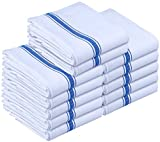 Kitchen Towels Dish Cloth (12 Pack) Machine Washable Cotton White Kitchen Dishcloths, Dish Towel & Tea Towels (15 x 25 Inch) by Utopia Towels
