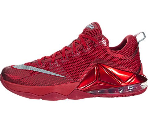 Nike Men's Lebron XII Low Unvrsty Rd/Rflct Slvr/Gym Rd/B ...