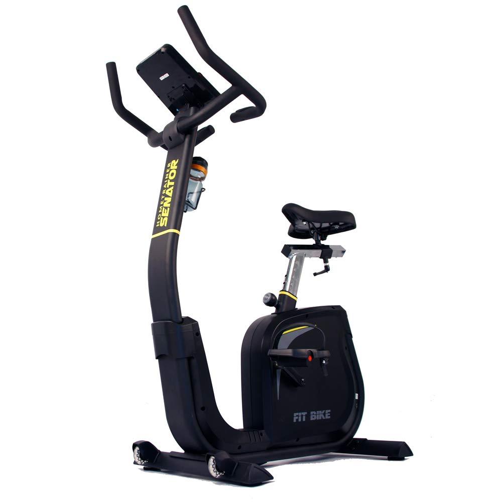 FitBike Heimtrainer Senator Ergometer - Smartphone tablet App kompatibel - 16 Widerstandsniveaus mit 12 Trainingsprogrammen - 10 kg Schwungrad - Professionell Fitnessbike