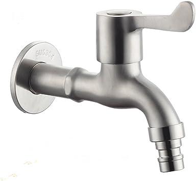Grifo de agua fría de pared de acero inoxidable moderno para baño lavatorio bañera Grifería de latón Grifería de jardín patio: Amazon.es: Bricolaje y herramientas
