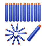 Foam Darts, Hosim 100pcs Nerf Refill Bullet Darts Pack 2.84in/7.2cm Soft Foam Safe Round Head and Air Hole Universal Standard Dart for Most Nerf N-strike Elite Series Blasters Kid Toy Gun (Blue)