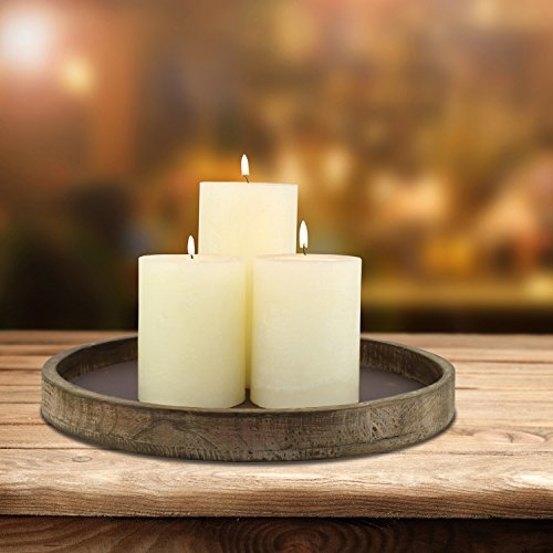 Stonebriar-Rustic-Natural-Wood-and-Metal-Candle-Holder-Tray-Home-Decor-Accessories-for-the-Coffee-Table-and-Dining-Table-Large