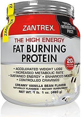 Zantrex High Energy Fat Burning Protein, Vanilla, 1 lb. 1 oz