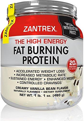 Zantrex High Energy Fat Burning Protein, Vanilla, 1 lb. 1 oz ()