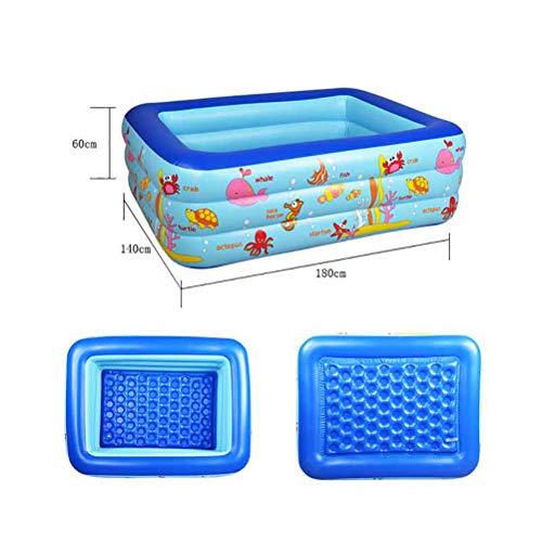 Dffdw Schwimmbad, Familienplanschbecken, aufblasbares Schwimmbecken für Kinder, Erwachsene