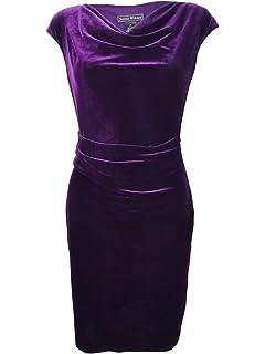 f246382c1d84 Jessica Howard Womens Velvet Cowl Neck Party Dress Green 16 at ...
