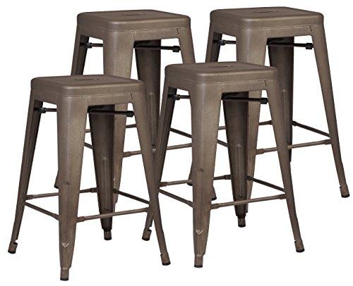 Galleon Winsome 29 Inch Square Leg Bar Stool Black Set