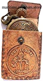 MAH Boy Scouts Brass Compass with Leather Case.C-3113