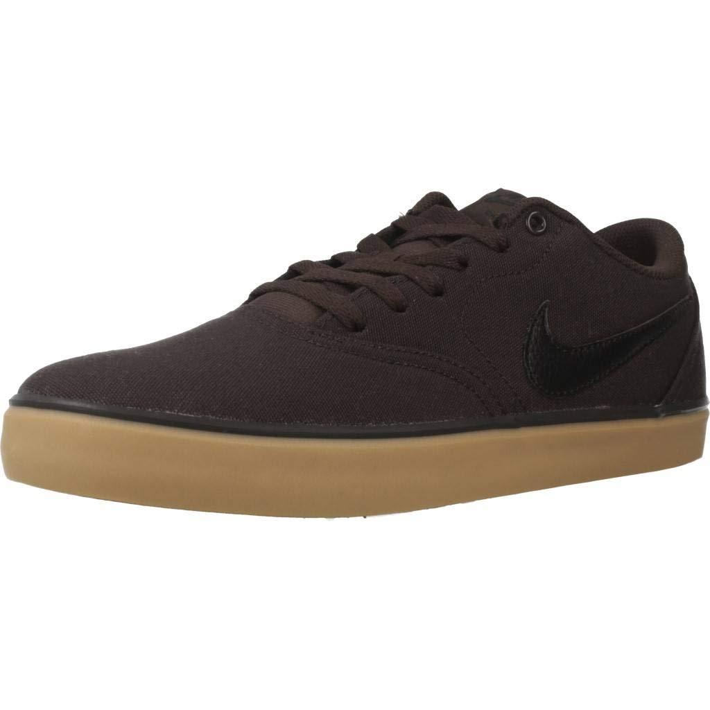 MultiCouleure (velours marron noir Gum jaune 201) 42 EU Nike SB Check Solar CNVS, Chaussures de Fitness Mixte Adulte