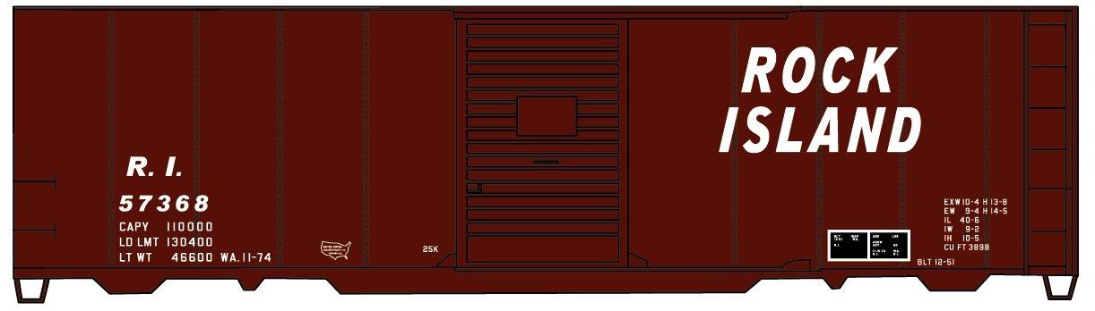 100%本物保証! Accurail acu12292 ho-scaleキット40 ' Wood acu12292 Box Car ( B0767QHVL9 1/レッド ) : Rock Island RI/レッド B0767QHVL9, OAフォレスト:686aba28 --- a0267596.xsph.ru