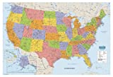 House of Doolittle Write On/Wipe Off Laminated United States Map 38 x 25 Inch (HOD721)