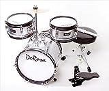 De Rosa DRM312-SL 12 in. Kids Children Drum Set in Silver - 3 Piece Set