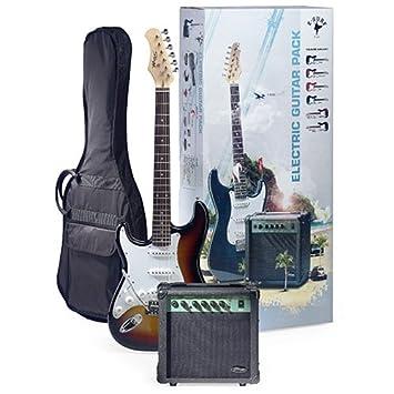 Stagg eSurf LHSBA LH 250 estándar de la guitarra eléctrica del resplandor solar Paquete izquierda Amplificador: Amazon.es: Instrumentos musicales