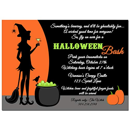 Halloween Party Invitation - Halloween Invitation - Cocktails and Cauldrons Collection]()