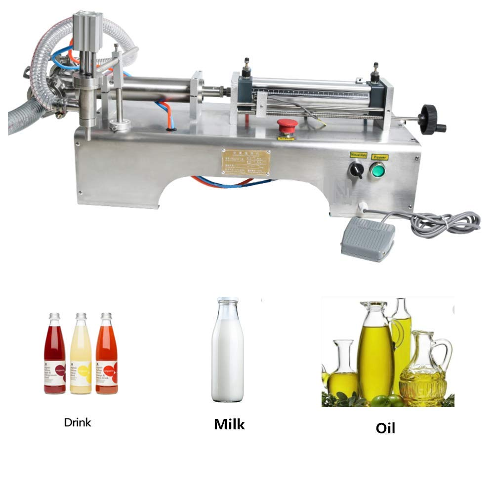 KUNHEWUHUA Pneumatic Liquid Water Oil Filling Machine 1000-5000ml Single Nozzle 110V/220V