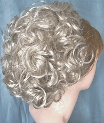 DAWN Clip On Hairpiece Gray with 10% Brown