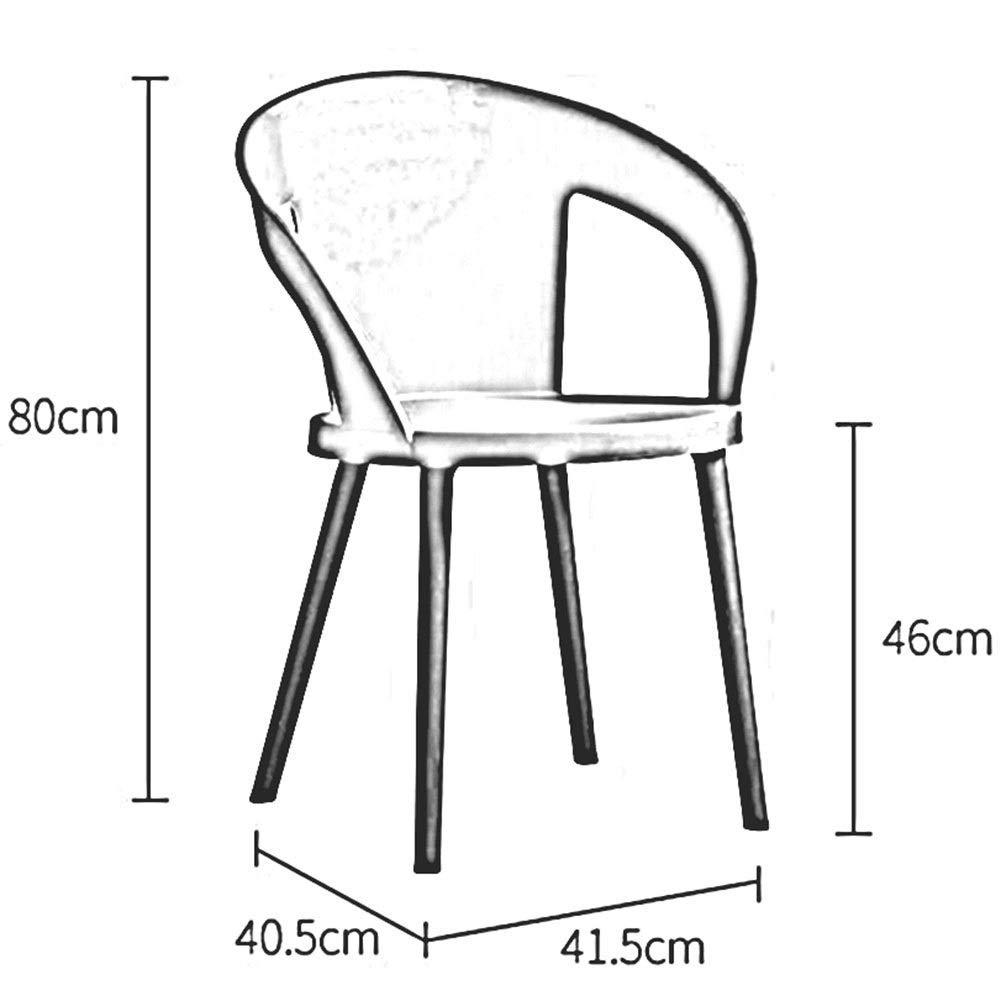 JIEER-C Fritidsstolar plast matstol modern enkel restaurang armstöd ryggstöd stol kontor mottagning lätt att montera 41,5 x 40,5 x 81 cm hållbar stark BLÅ