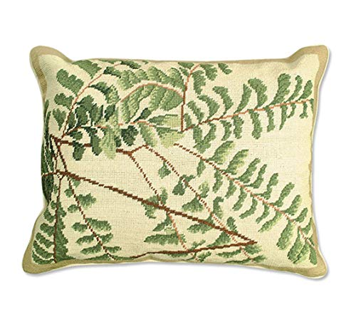 Orvis Fern Needlepoint Pillow, Green - Orvis Pillow