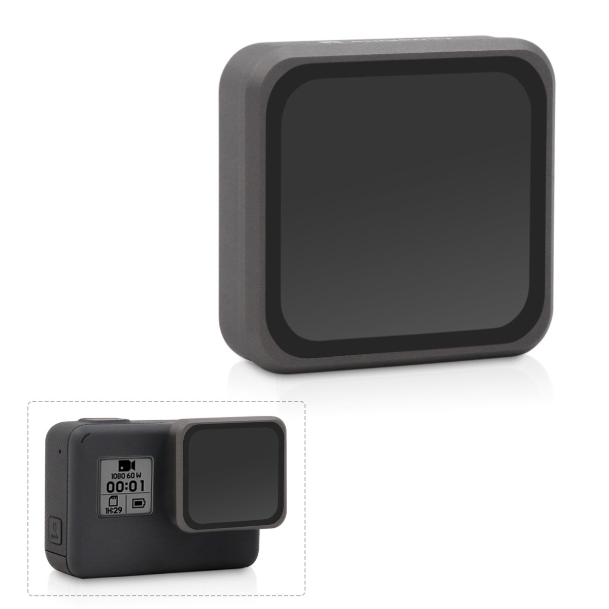 LENSKINS MRC ND8 Filter for GoPro Hero 5 Black & Hero 6 Black, AGC Optics Glass, Multi-Resistant Coating Neutral Density Filter, Snug Fit and Slim GoPro Lens Filter with Storage Bag and Lens Cloth