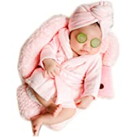 Newborn Baby Infant Photography Props Boys Girls Bathrobe with 2pcs Cucumber Slices